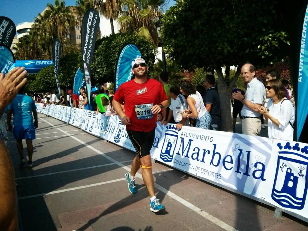 Llegada a meta XXIX Media Maratón de Marbella