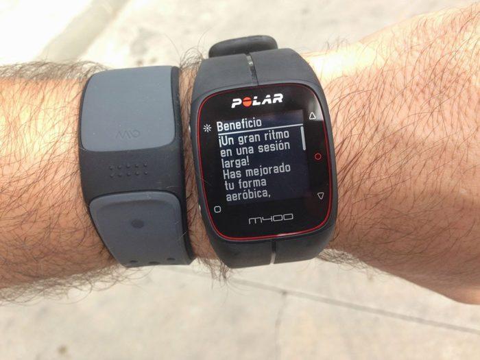 Beneficio de entrenamiento en Polar M400