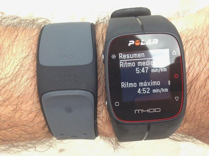 Resumen de entrenamiento Polar M400