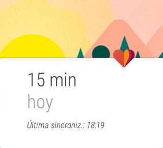 Google Fit, actividad del día