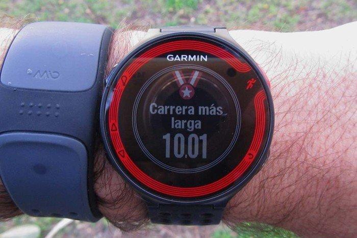 Record de distancia Garmin Forerunner 220