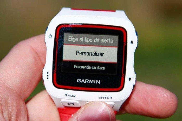 Garmin 920xt - Configuración de alertas 1