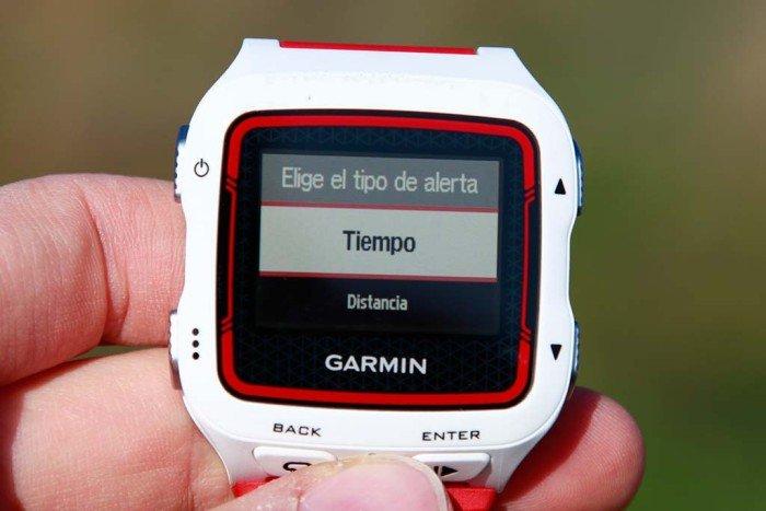 Garmin 920xt - Configuración de alertas 3
