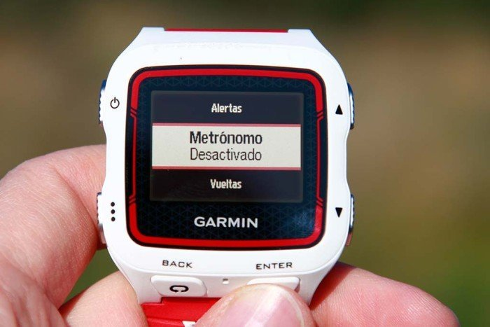 Garmin 920xt - Configuración de alertas 5
