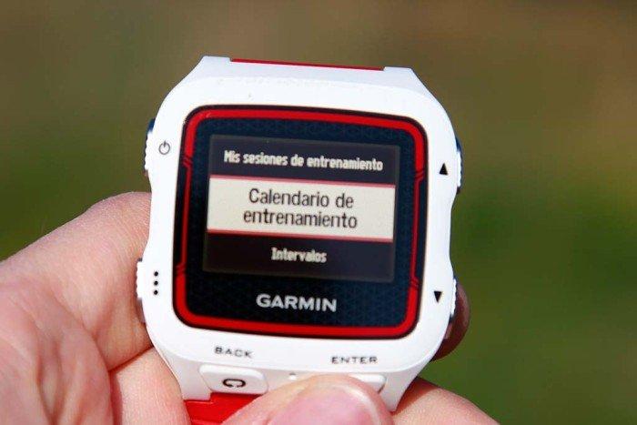 Garmin Forerunner 920xt - Calendario de entrenamientos