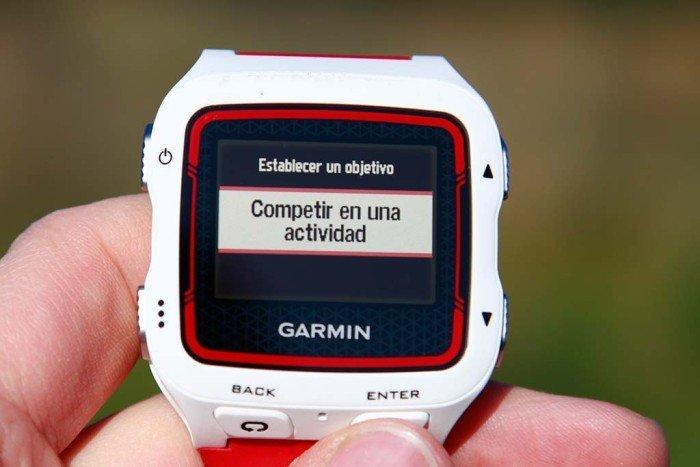 Garmin 920xt - Competir contra actividad