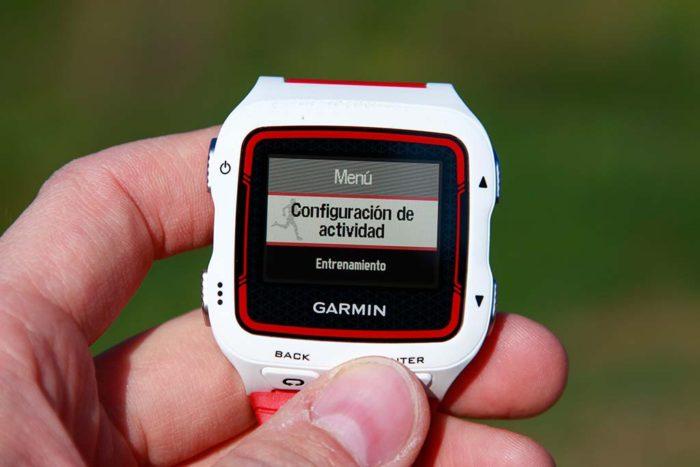 Garmin Forerunner 920xt - Configuración de actividad