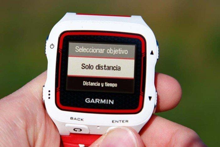 Garmin Forerunner 920xt - Objetivo de entrenamiento