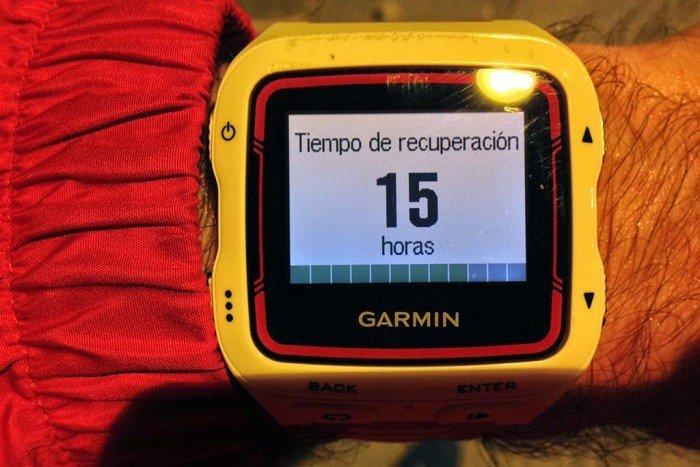 Garmin 920xt - Tiempo de recuperación