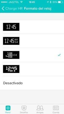 Fitbit Charge - Configuración reloj