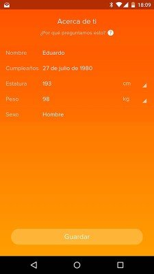 Fitbit Charge - Perfil Android