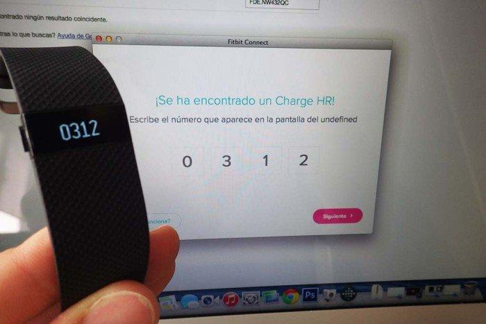 Fitbit Charge - Sincronización ordenador