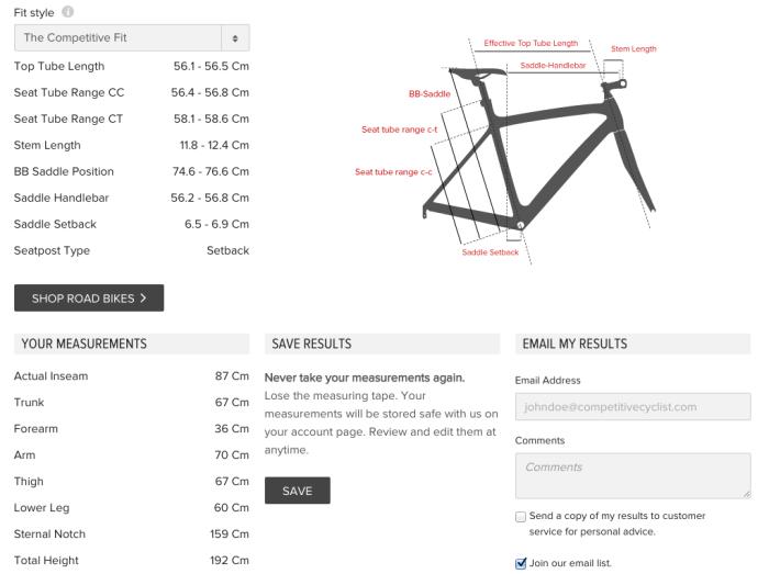Tamaño cuadro bicicleta