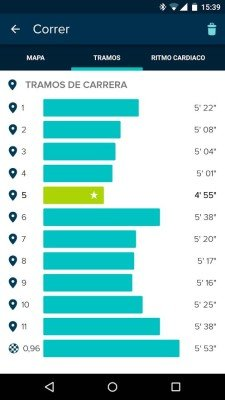 Fitbit Surge - Actividad aplicación móvil
