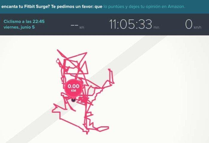 Fitbit Surge - Autonomía GPS