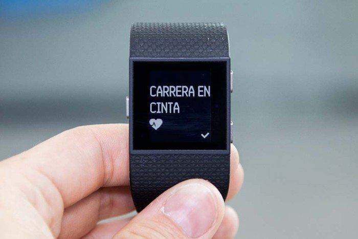 Fitbit Surge - Carrera en cinta