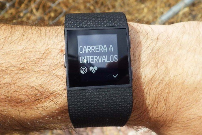 Fitbit Surge - Carrera intervalos