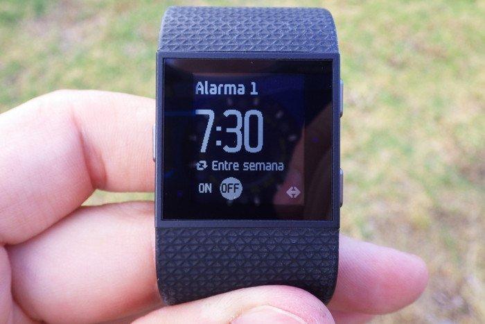 Fitbit Surge - Configuración de alarma