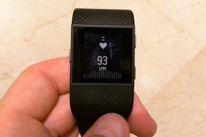 Fitbit Surge - Widget pulsaciones