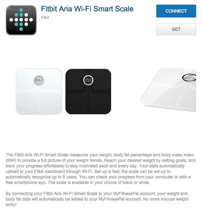 Fitbit Aria - Sincronización con otros servicios