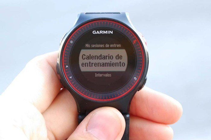 Garmin 225 - Calendario de entrenamientos