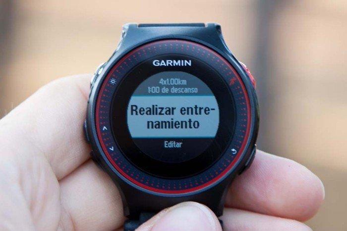 Garmin Forerunner 225 - Creación rápida de intervalos