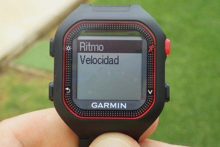 Garmin Forerunner 25 - Selección de ritmo o velocidad