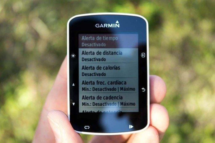 Garmin Edge 520 - Configuración de alertas