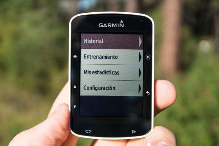 Garmin Edge 520 - Colores de menú