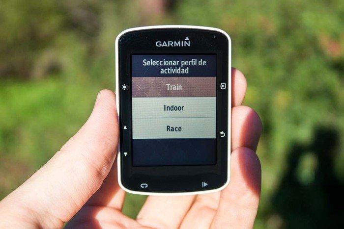 Garmin Edge 520 - Selección de actividad