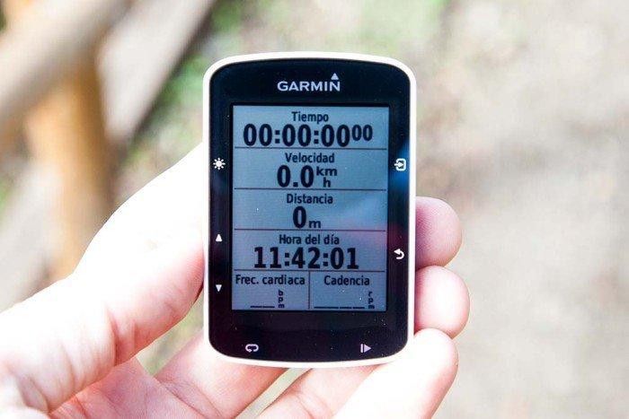 Garmin Edge 520 - Pantalla de datos