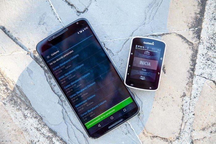Garmin Edge 520 - Sincronización móvil
