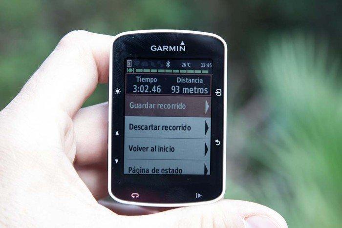 Garmin Edge 520 - Actividad pausada