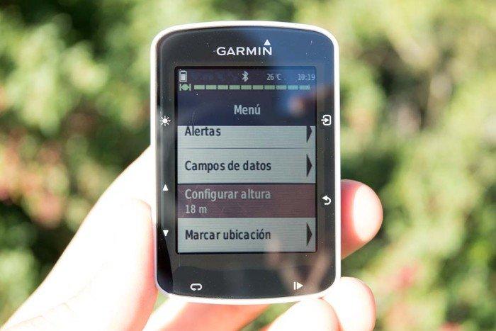 Garmin Edge 520 - Configurando altura