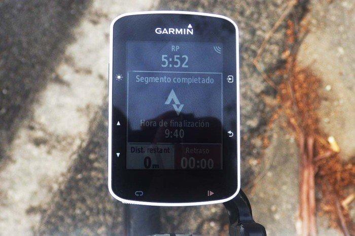 Garmin Edge 520 - Tiempo final Strava