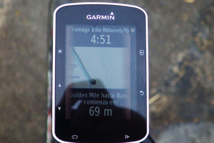 Garmin Edge 520 - Aviso de inicio segmento Strava