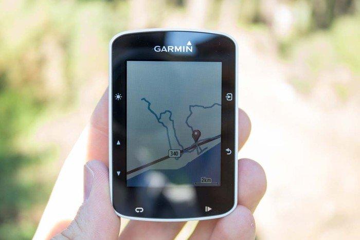 Garmin Edge 520 - Mapa de actividad