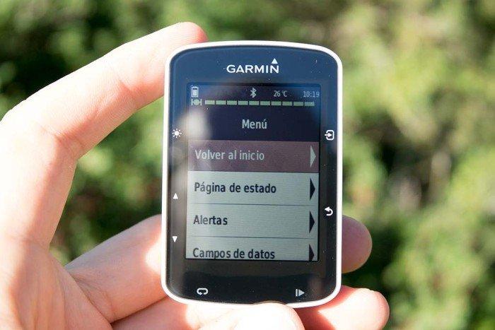 Garmin Edge 520 - Menú dentro de actividad