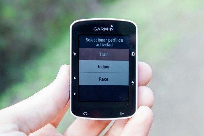 Garmin Edge 520 - Selección de perfil