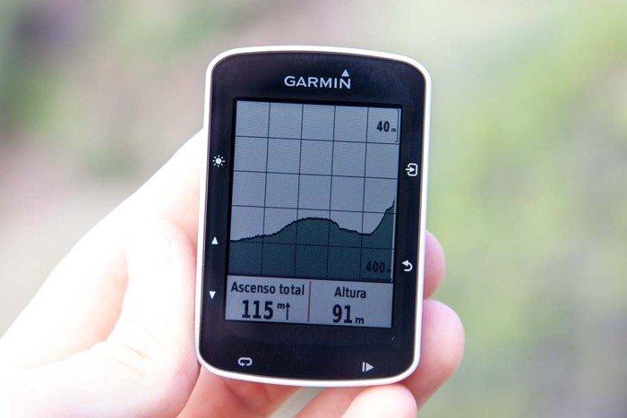Garmin Edge 520 - Perfil de altitud