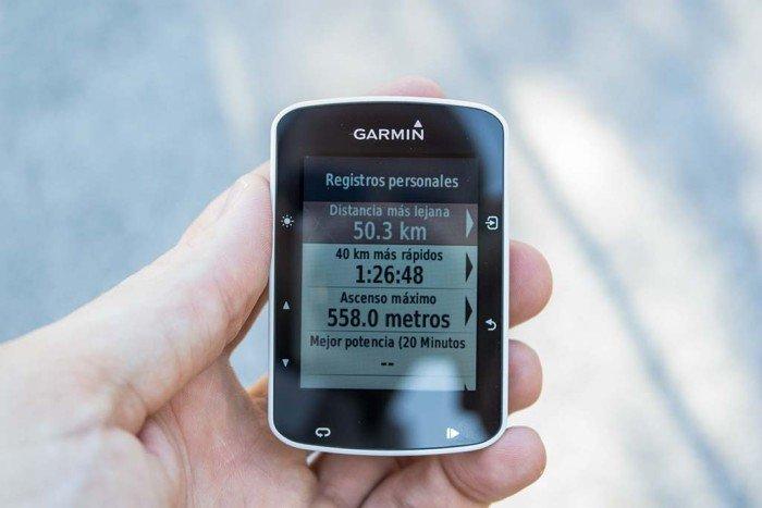 Garmin Edge 520 - Record personales