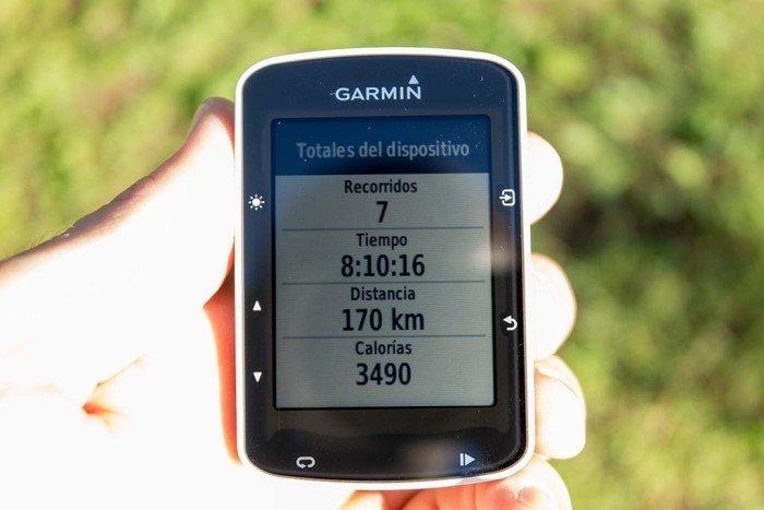Garmin Edge 520 - Resumen total por actividad