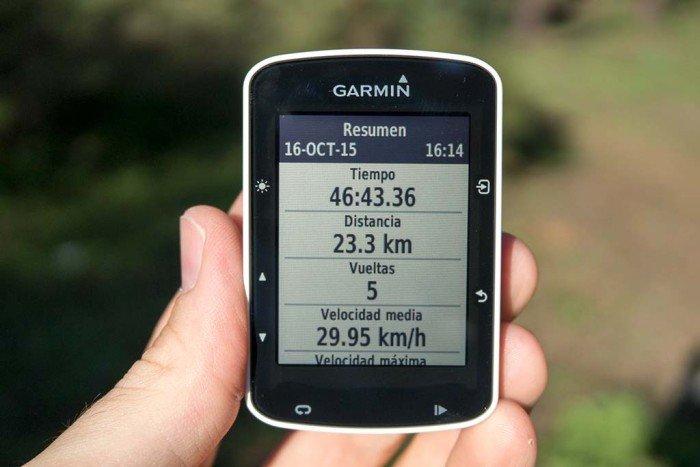 Garmin Edge 520 - Resumen de actividad