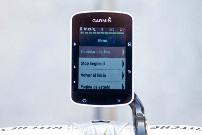 Garmin Edge 520 - Strava cambiar objetivo