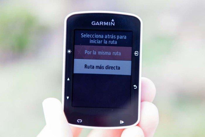 Garmin Edge 520 - Vuelta a inicio