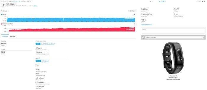 Garmin Vivoactive HR - Actividad carrera sincronizada