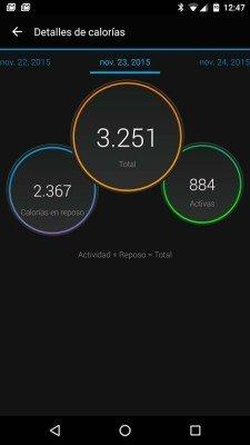 Garmin Vivosmart HR - Comparativa calorías