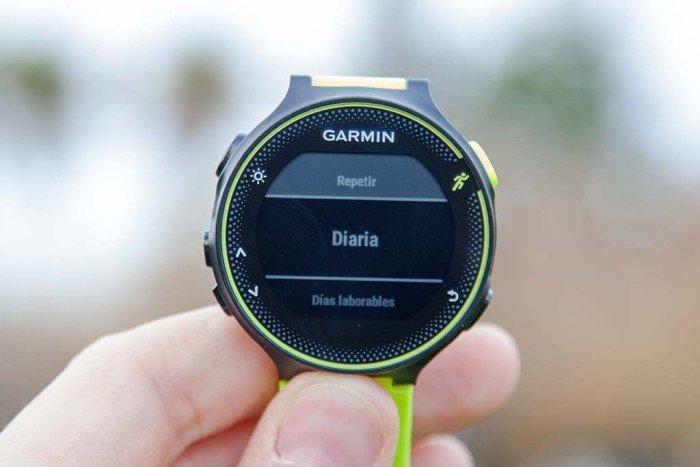 Garmin Forerunner 230 - Repetición de alarmas