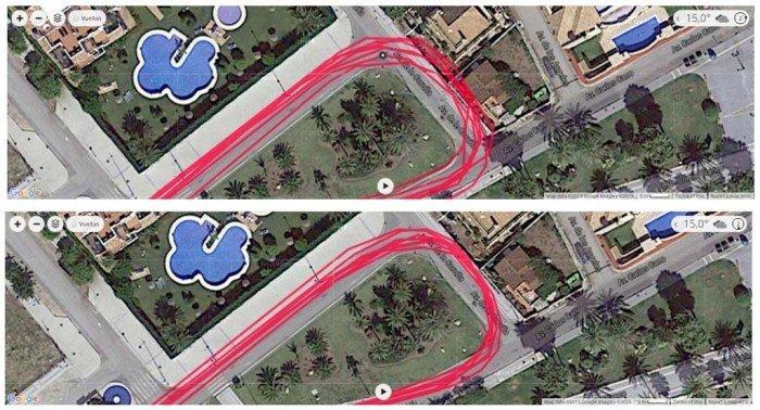 Garmin Forerunner 230 - Comparativa track GPS