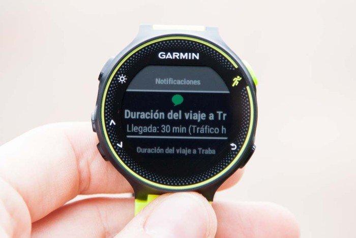 Garmin Forerunner 230 - Widget notificaciones